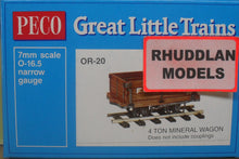 Load image into Gallery viewer, PECO GREAT LITTLE TRAINS OR-20 OO-9 4 TON MINERAL WAGON KIT - (PRICE INCLUDES DELIVERY)