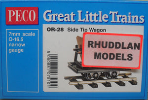 PECO GREAT LITTLE TRAINS OR-28 OO-9 SIDE TIP WAGON KIT - (PRICE INCLUDES DELIVERY)
