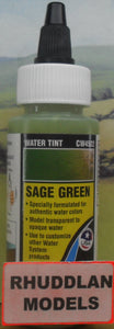 WOODLAND SCENICS CW4522 59.1ML SAGE GREEN WATER TINT - (PRICE INCLUDES DELIVERY)