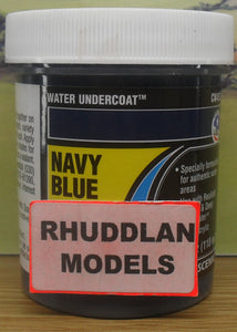 WOODLAND SCENICS CW4531 110ML WATER UNDERCOAT NAVY BLUE - (PRICE INCLUDES DELIVERY)
