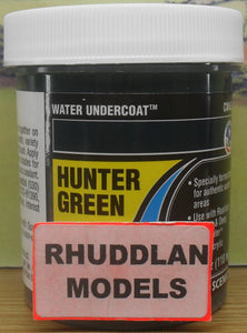 WOODLAND SCENICS CW4532 110ML WATER UNDERCOAT HUNTER GREEN - (PRICE INCLUDES DELIVERY)