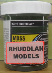 WOODLAND SCENICS CW4533 110ML WATER UNDERCOAT MOSS GREEN - (PRICE INCLUDES DELIVERY)