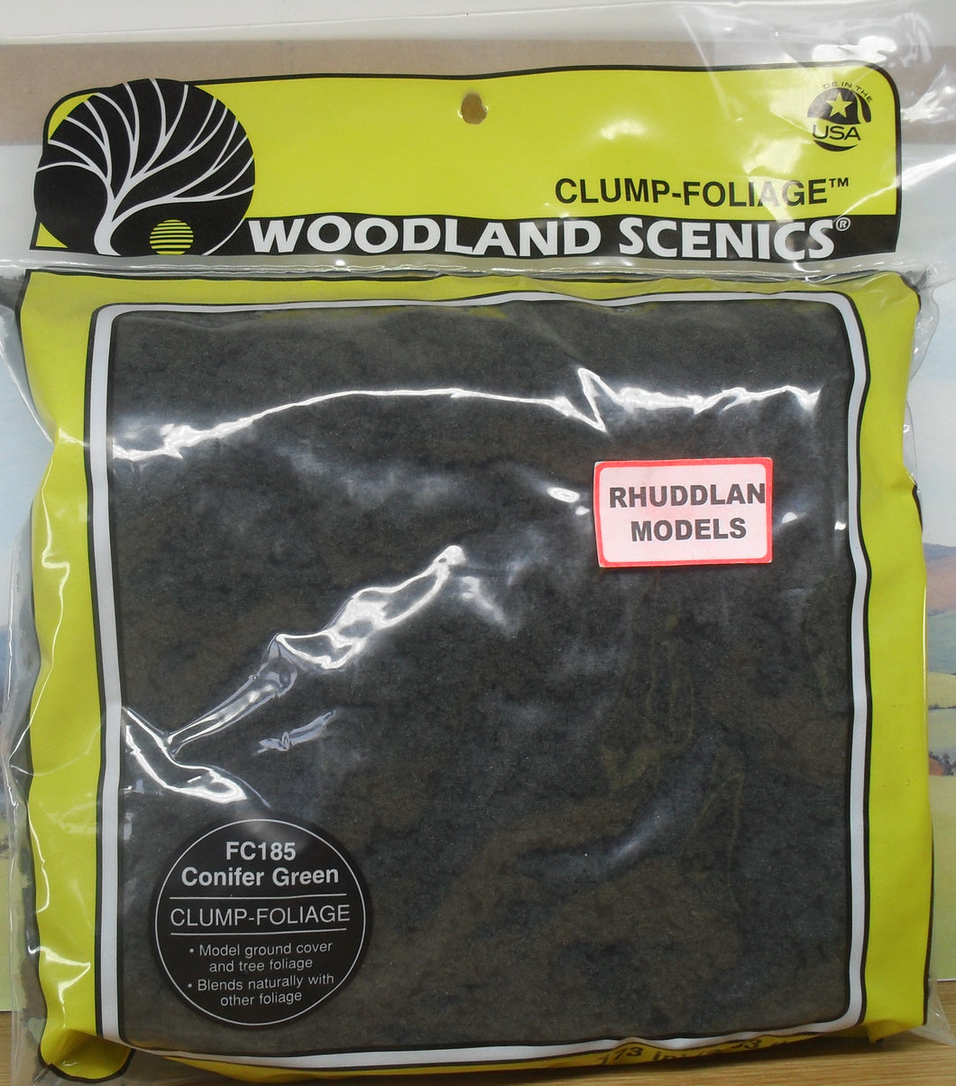 WOODLAND SCENICS CLUMP FOLIAGE FC185 CONIFER GREEN - (PRICE INCLUDES DELIVERY)