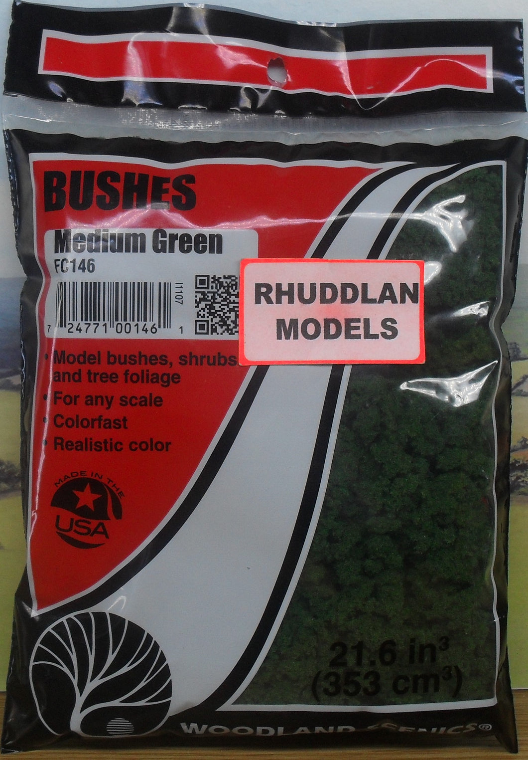 WOODLAND SCENICS BUSHES FC146 MEDIUM GREEN - (PRICE INCLUDES DELIVERY)