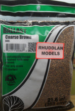Load image into Gallery viewer, WOODLANDS SCENICS B86 BALLAST COARSE BROWN - (PRICE INCLUDES DELIVERY)
