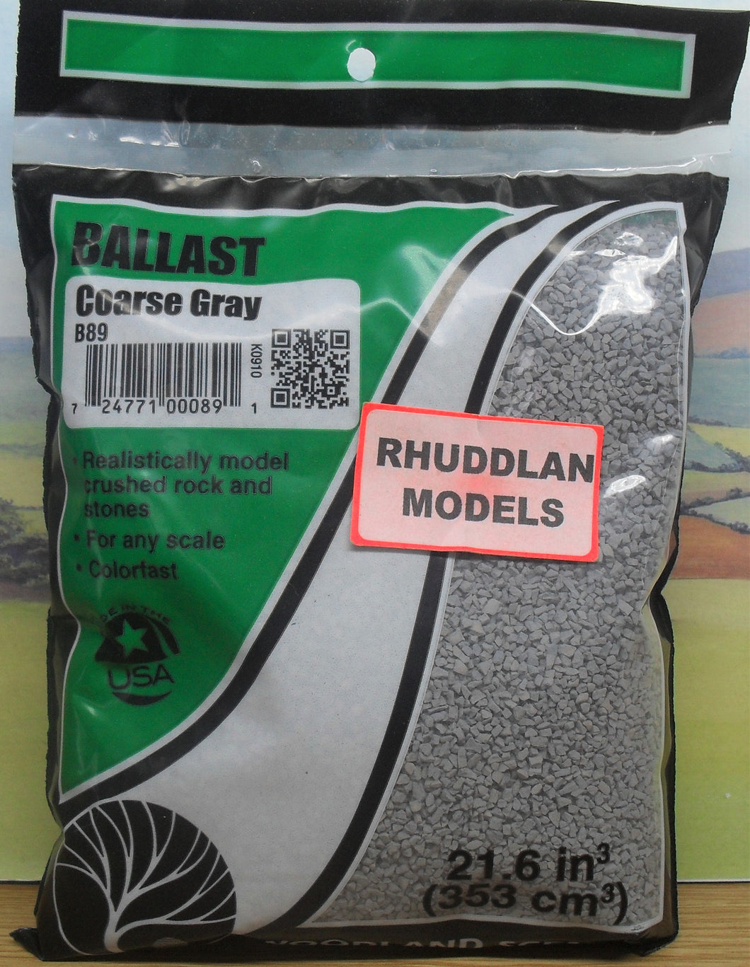WOODLAND SCENICS B89 BALLAST COARSE GRAY - (PRICE INCLUDES DELIVERY)