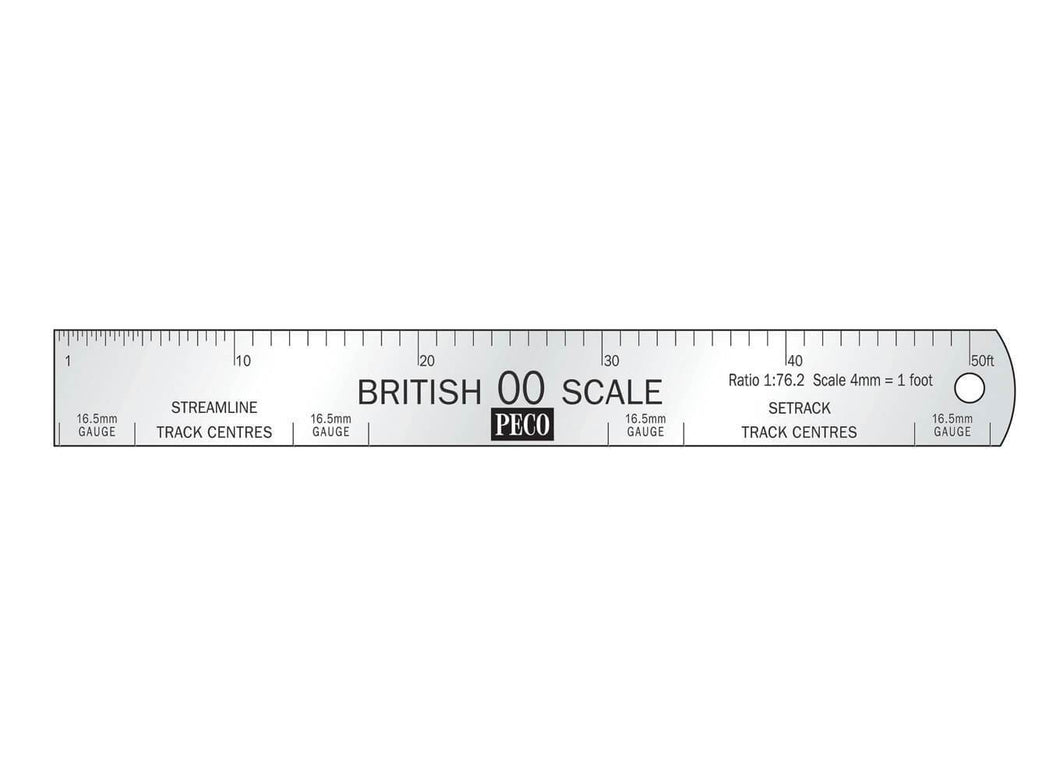 PECO SL-20 OO/1:76 STAINLESS STEEL SCALE RULE - (PRICE INCLUDES DELIVERY)