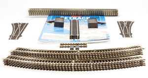PECO ST-100 OO/1:76 STARTER TRACK SET 2ND RADIUS CURVES - (PRICE INCLUDES DELIVERY)