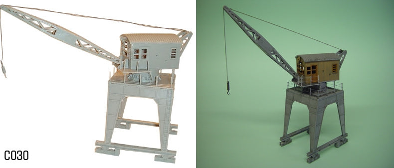 DAPOL C030 OO/1:76 TRAVELING DOCKSIDE CRANE - (PRICE INCLUDES DELIVERY)