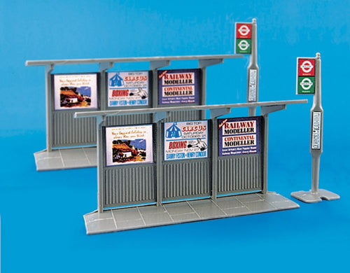 MODEL SCENE ACCESSORIES NO.5007 OO/1:76 BUS STOPS & SHELTERS - (PRICE INCLUDES DELIVERY)