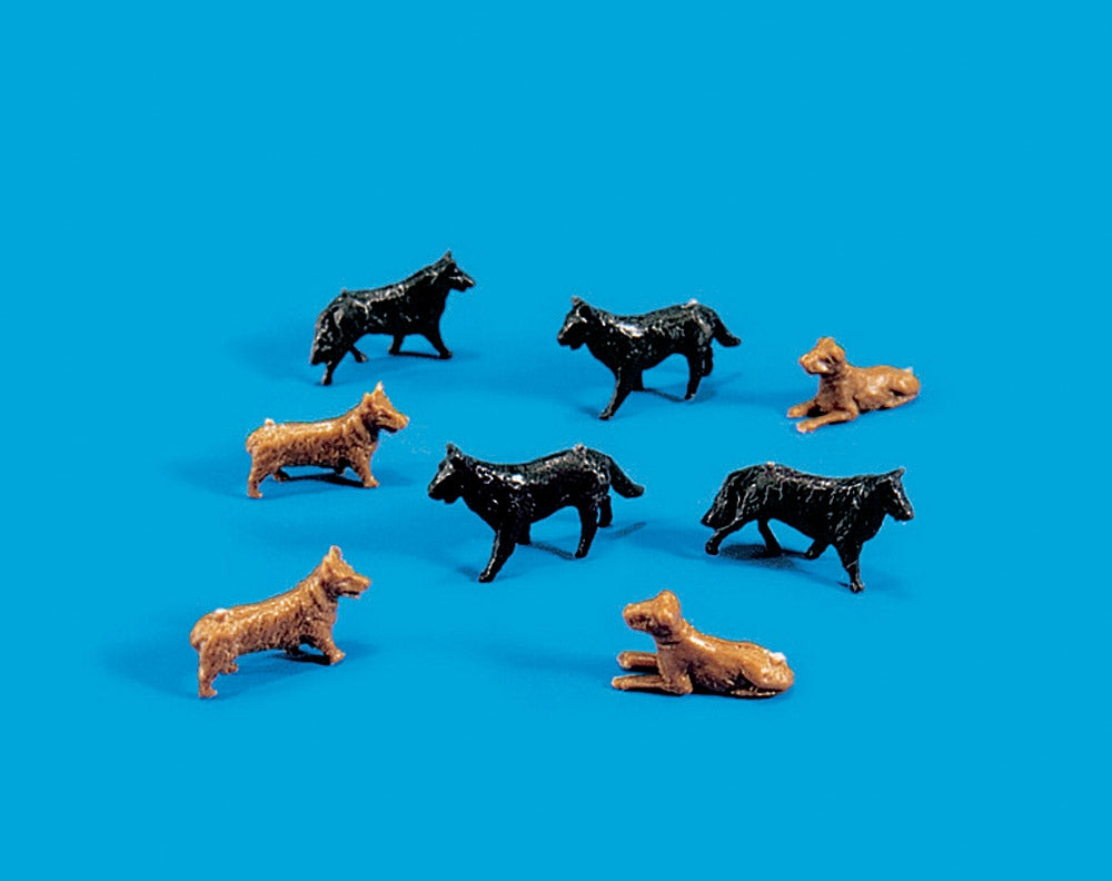 MODEL SCENE ACCESSORIES NO.5102 OO/1:76 DOGS - (PRICE INCLUDES DELIVERY)