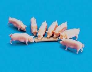 PECO MODEL SCENE 5108 OO/1:76 PIGS & TROUGH - (PRICE INCLUDES DELIVERY)