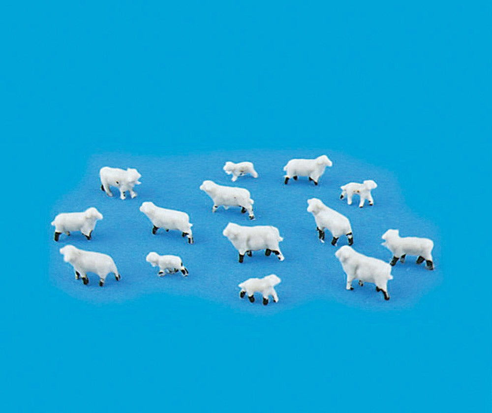 MODEL SCENE ACCESSORIES NO.5177 N GAUGE SHEEP & LAMB (14)  - (PRICE INCLUDES DELIVERY)