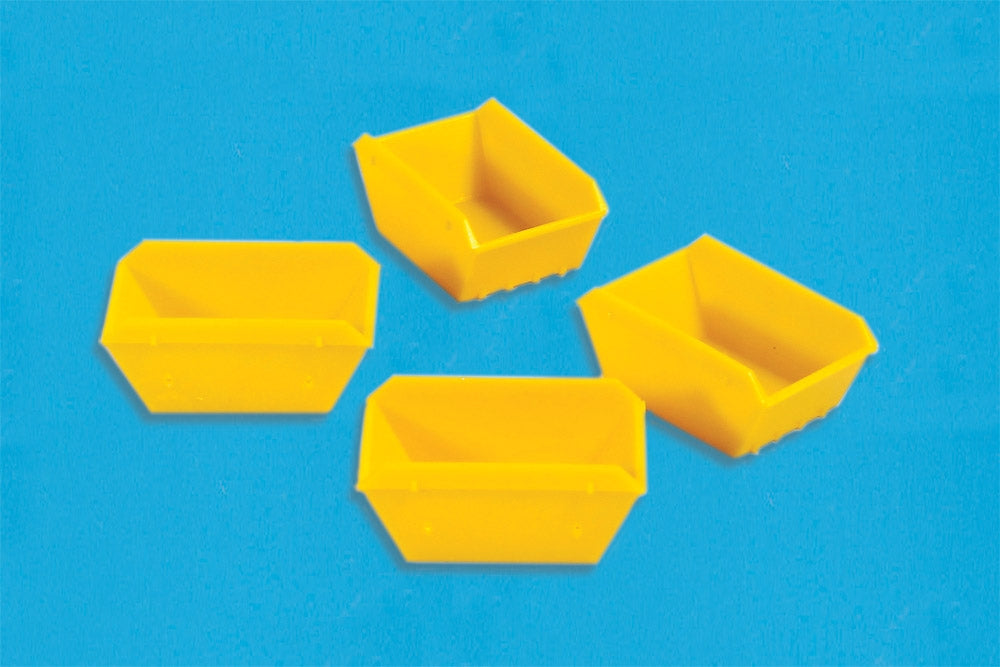 MODEL SCENE ACCESSORIES NO.5188 N GAUGE SKIPS (4) - (PRICE INCLUDES DELIVERY)