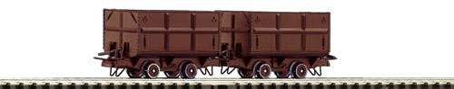 ROCO 34498 OO-9 START SIDE TIPPING WAGONS III (2) - (PRICE INCLUDES DELIVERY)