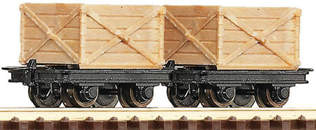 ROCO 34603 OO-9 CRATE WAGONS (2) - (PRICE INCLUDES DELIVERY)