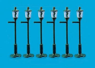 PECO MODEL SCENE 5004 OO/1:76 GAS LAMP POSTS (8) - (PRICE INCLUDES DELIVERY)