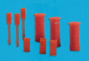 MODEL SCENE ACCESSORIES NO.5191 N GAUGE POST BOXES (9) - (PRICE INCLUDES DELIVERY)