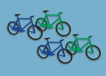 Load image into Gallery viewer, MODEL SCENE ACCESSORIES NO.5189 N GAUGE BICYCLES (12) - (PRICE INCLUDES DELIVERY)
