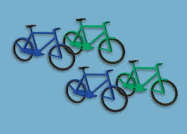 MODEL SCENE ACCESSORIES NO.5189 N GAUGE BICYCLES (12) - (PRICE INCLUDES DELIVERY)