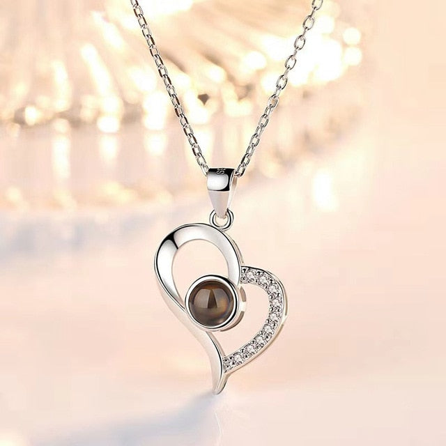 Heart I LOVE YOU Projection Necklace