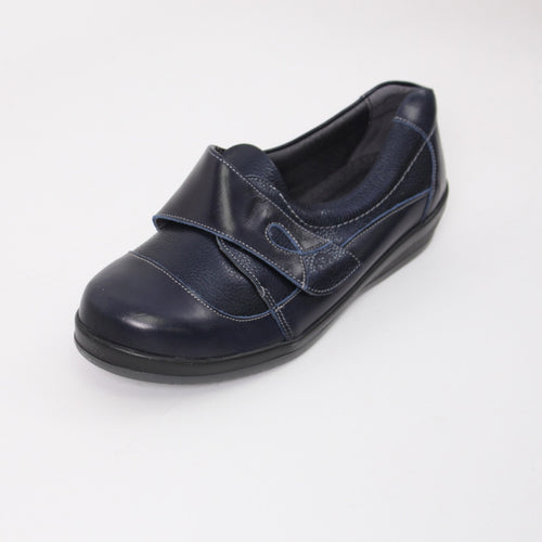 374 Sandpiper Farden Navy Ladies Extra Wide Casual Shoe size 4