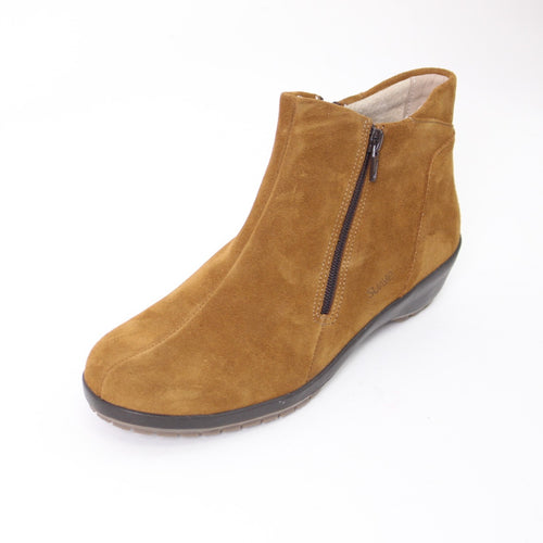 412 Suave Quinn Camel Suede Ladies Ankle Boot Size 4