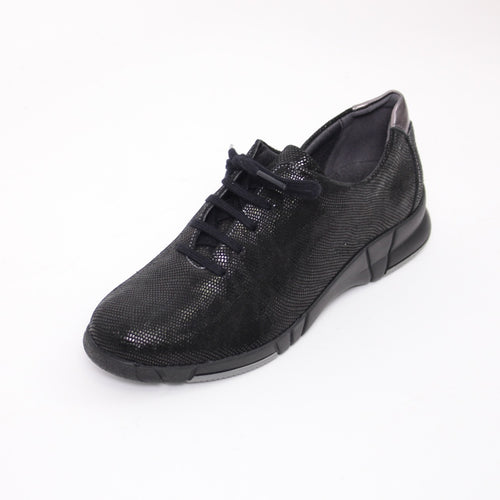 368 Suave Ladies Black Lace Casual Shoe size 4