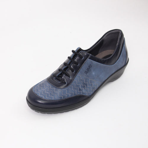 385 Suave Navy/Royal Ladies Lace up Casual Shoe size 4