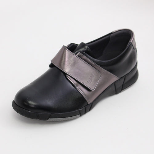 352 Suave Black/Pewter Ladies Casual Shoe
