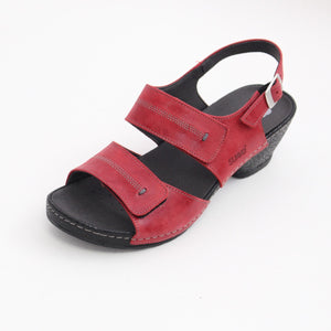 361 Suave Ladies Red Sandal size 4