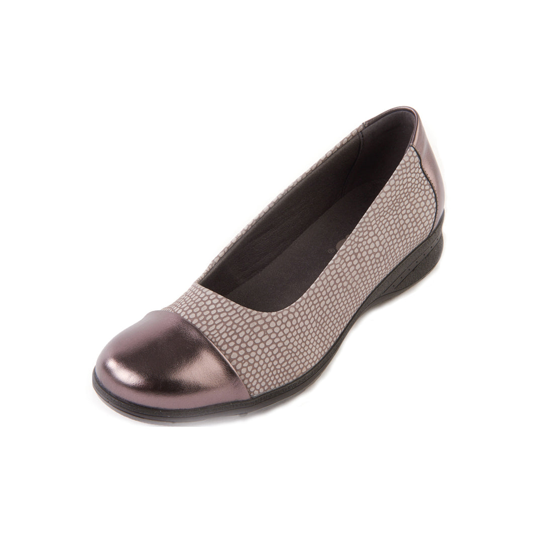 188 Suave Beth Mineral Snake/Gunmetal Casual Shoe size 4
