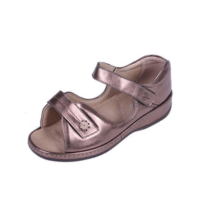 297 Sandpiper Coral Bronze Extra Wide Sandals size 4
