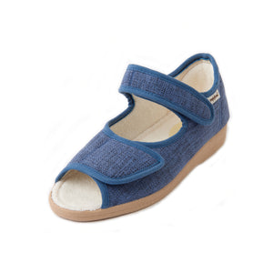 287 Sandpiper Deana Denim Extra Wide Slipper size 4