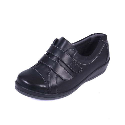 043 Sandpiper Fargo Black Extra Wide Shoes size 4