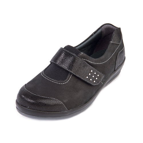 180 Sandpiper Ferton Black/Reptile Extra Wide Shoes size 4