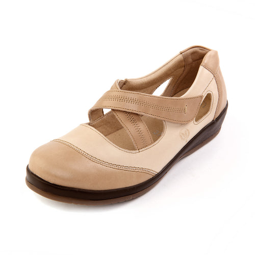 249 Sandpiper Fife Stone/Beige Extra Wide Shoe size 4