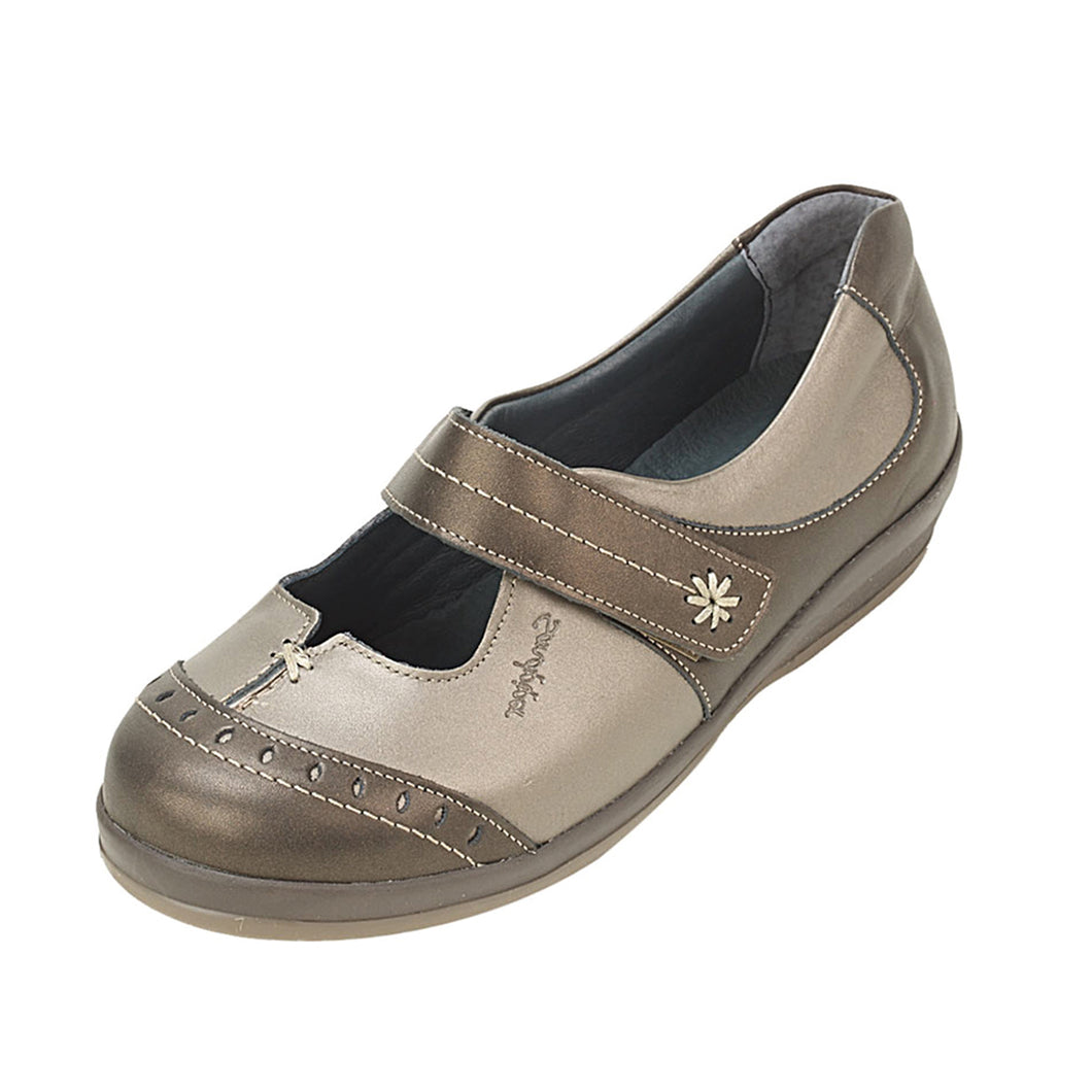 247 Sandpiper Filton Bronze/Pewter Extra Wide Shoe size 4