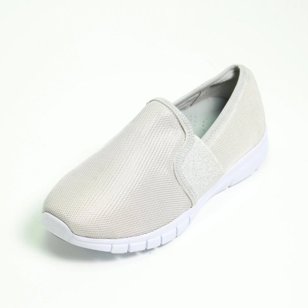 024 Sandpiper Silver Slip on Casual Shoe size 4