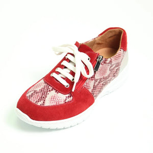 030 Footsoft Red Multi Lace up Casual Shoe size 4
