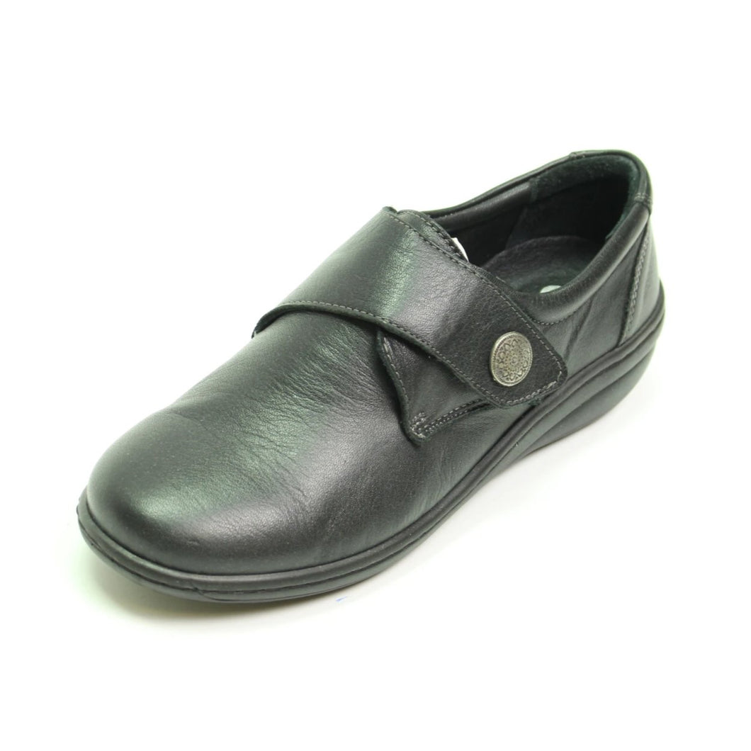 031 Footsoft Black Velcro Casual Shoe size 4