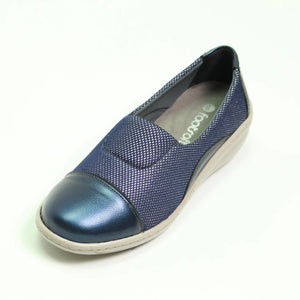 049 Footsoft Cleo Navy Slip on Casual Shoe size 4