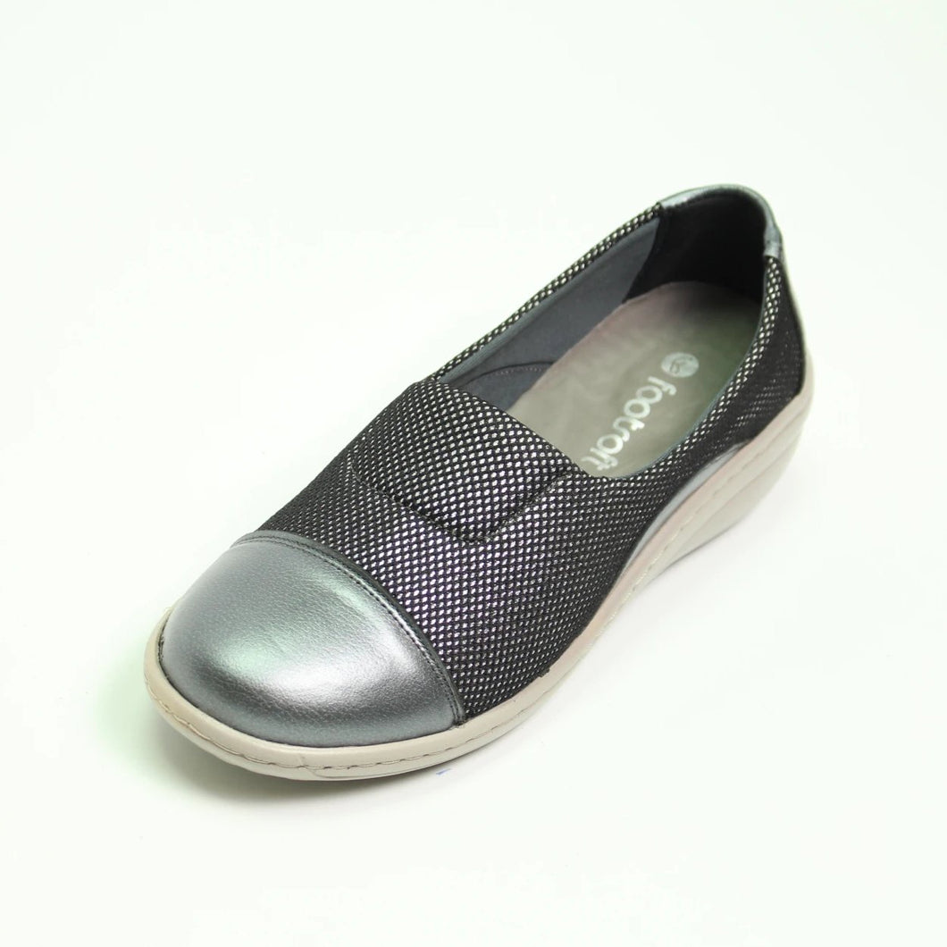 071 Footsoft Cleo Gunmetal Multi Casual Shoe size 4