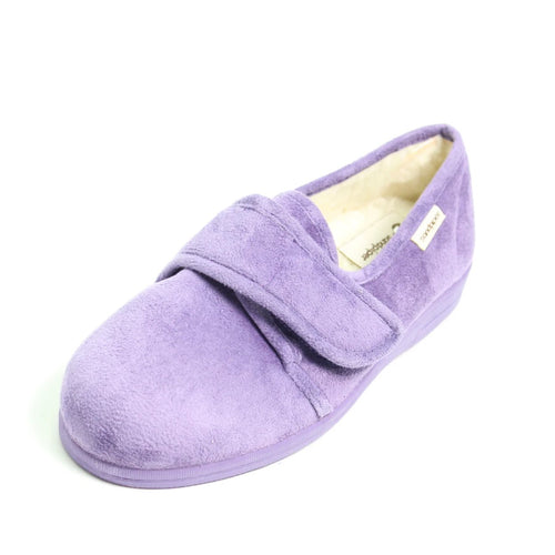 099 Sandpiper Sally Purple Extra Wide Slipper size 4