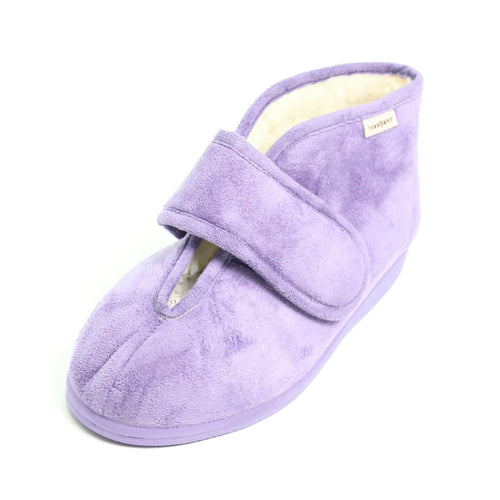 100 Sandpiper Vera Purple Extra Wide Slipper size 4