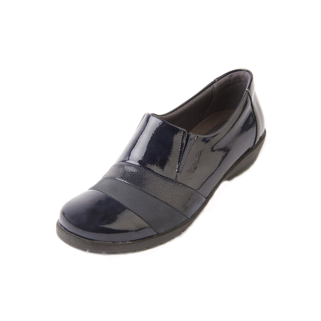 238 Suave Jill Navy Patent Multi Casual Shoe size 4