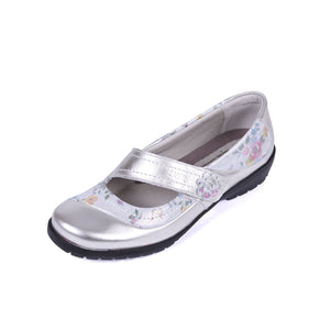 210 Suave Joy Platinum/Floral Casual Shoe size 4