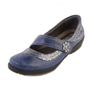 170 Suave Joy Royal/Shimmer Casual Shoe size 4