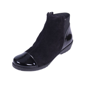 183 Suave Joyce Black/Suede Ankle Boot size 4