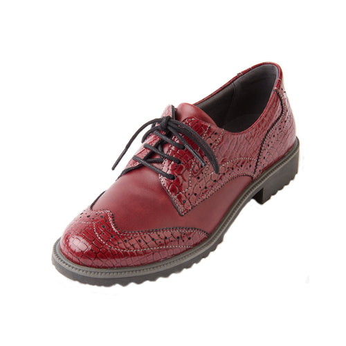 211 Suave Nikki Cherry Casual Lace Shoe size 4